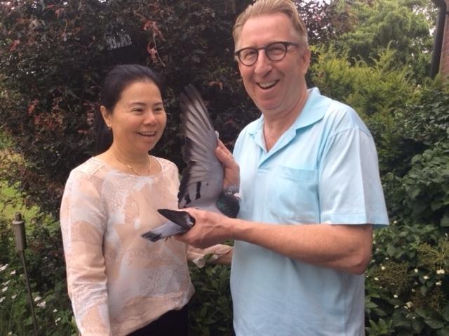 Gerard Koopman met echtgenote in Markvelde