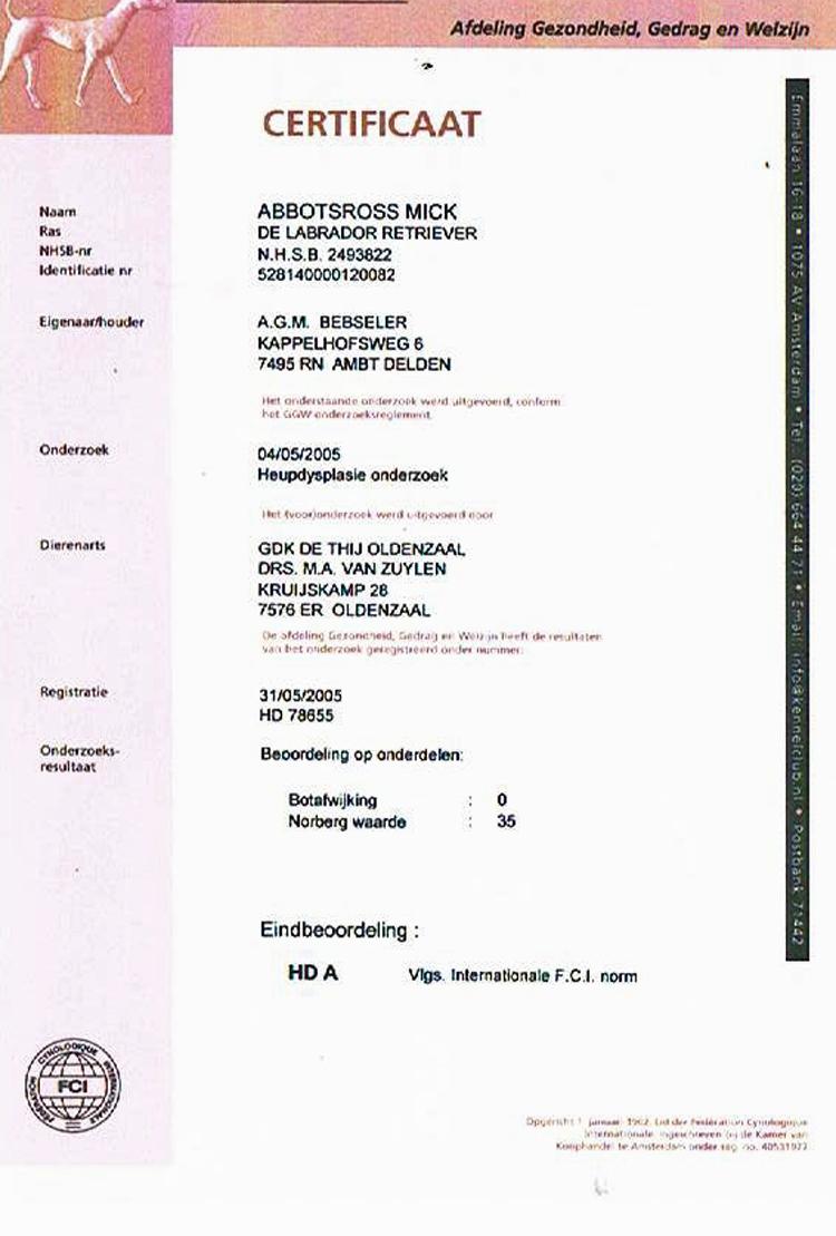 certificaat-HDA